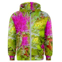 Colored Plants Photo Men s Zipper Hoodie