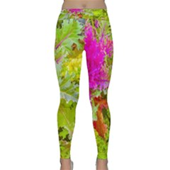 Colored Plants Photo Classic Yoga Leggings