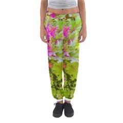 Colored Plants Photo Women s Jogger Sweatpants