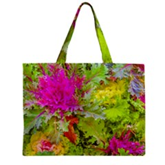 Colored Plants Photo Zipper Mini Tote Bag