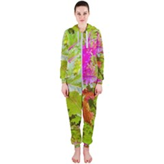 Colored Plants Photo Hooded Jumpsuit (ladies)