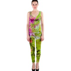 Colored Plants Photo One Piece Catsuit