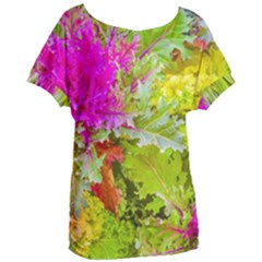 Colored Plants Photo Women s Oversized Tee