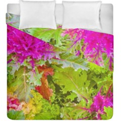 Colored Plants Photo Duvet Cover Double Side (king Size)