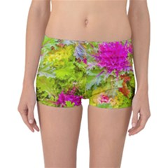 Colored Plants Photo Reversible Boyleg Bikini Bottoms