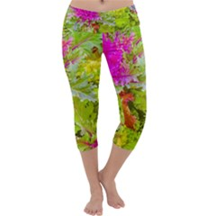 Colored Plants Photo Capri Yoga Leggings