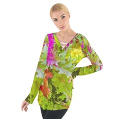 Colored Plants Photo Tie Up Tee