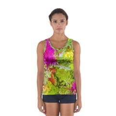 Colored Plants Photo Sport Tank Top