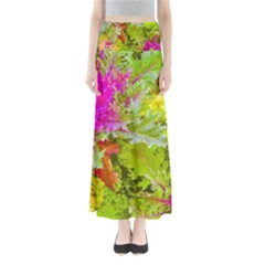 Colored Plants Photo Full Length Maxi Skirt