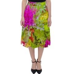Colored Plants Photo Folding Skater Skirt