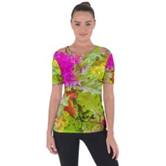 Colored Plants Photo Short Sleeve Top