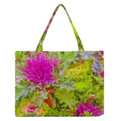 Colored Plants Photo Zipper Medium Tote Bag