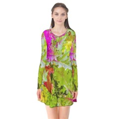 Colored Plants Photo Flare Dress