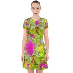 Colored Plants Photo Adorable In Chiffon Dress