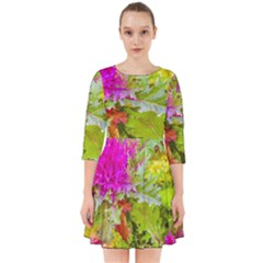 Colored Plants Photo Smock Dress
