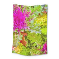 Colored Plants Photo Small Tapestry