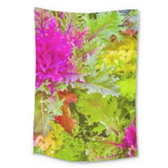 Colored Plants Photo Large Tapestry