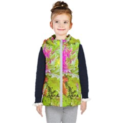 Colored Plants Photo Kid s Puffer Vest