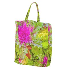 Colored Plants Photo Giant Grocery Zipper Tote
