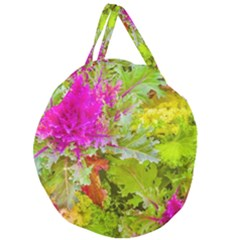 Colored Plants Photo Giant Round Zipper Tote