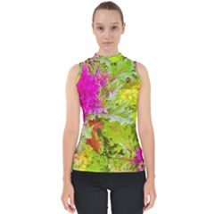 Colored Plants Photo Shell Top