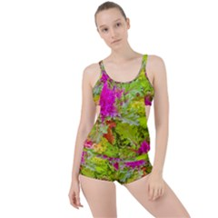 Colored Plants Photo Boyleg Tankini Set