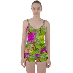 Colored Plants Photo Tie Front Two Piece Tankini