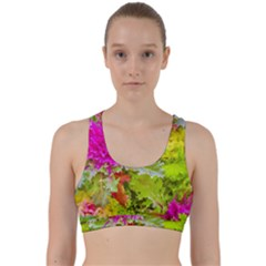Colored Plants Photo Back Weave Sports Bra