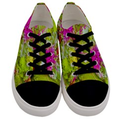 Colored Plants Photo Men s Low Top Canvas Sneakers