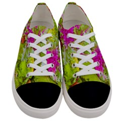 Colored Plants Photo Women s Low Top Canvas Sneakers