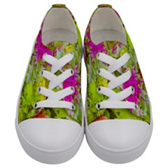 Colored Plants Photo Kids  Low Top Canvas Sneakers
