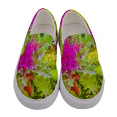 Colored Plants Photo Women s Canvas Slip Ons