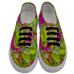Colored Plants Photo Men s Classic Low Top Sneakers