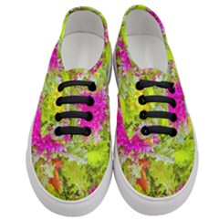 Colored Plants Photo Women s Classic Low Top Sneakers