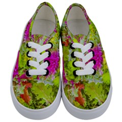 Colored Plants Photo Kids  Classic Low Top Sneakers
