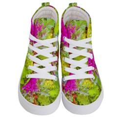 Colored Plants Photo Kid s Hi Top Skate Sneakers