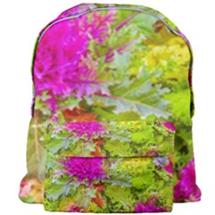 Colored Plants Photo Giant Full Print Backpack