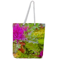 Colored Plants Photo Full Print Rope Handle Tote (large)