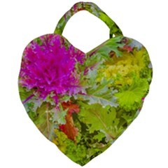 Colored Plants Photo Giant Heart Shaped Tote