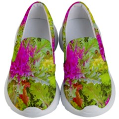 Colored Plants Photo Kid s Lightweight Slip Ons