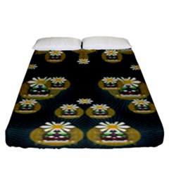 Bats In Caves In Spring Time Fitted Sheet (king Size)