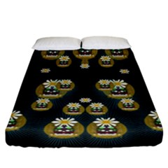 Bats In Caves In Spring Time Fitted Sheet (california King Size)