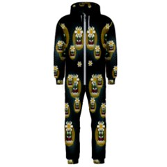 Bats In Caves In Spring Time Hooded Jumpsuit (men)
