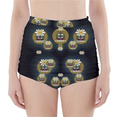 Bats In Caves In Spring Time High Waisted Bikini Bottoms