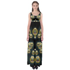 Bats In Caves In Spring Time Empire Waist Maxi Dress
