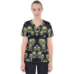 Bats In Caves In Spring Time Scrub Top