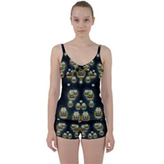 Bats In Caves In Spring Time Tie Front Two Piece Tankini