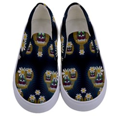 Bats In Caves In Spring Time Kids  Canvas Slip Ons