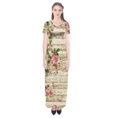 On Wood 2226067 1920 Short Sleeve Maxi Dress