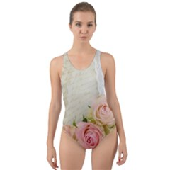 Roses 2218680 960 720 Cut Out Back One Piece Swimsuit